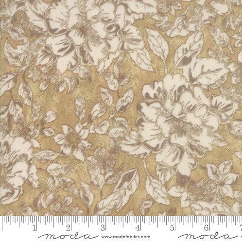 Maven 30461 20 Gold Floral Moda Basic Grey