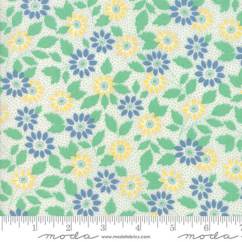 30's Playtime 2018 33350 11 Green Yellow Floral