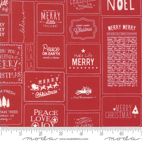 The Christmas Card 5770 21 Red Moda Sweetwater