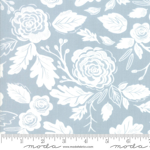 Harvest Road 5100 15  Light Blue Floral Moda Lella Boutique