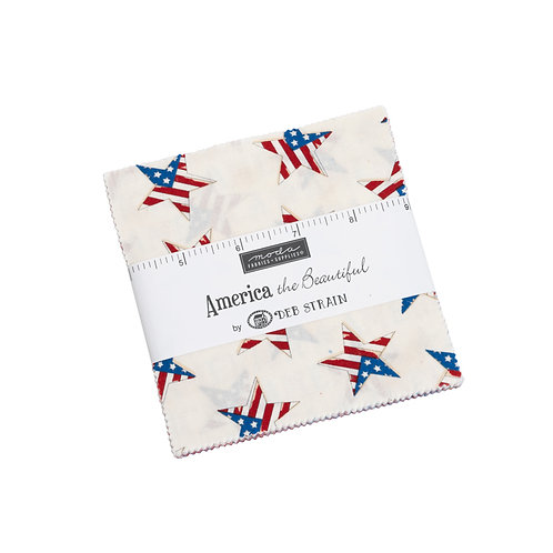 America the Beautiful Moda Charm Pack Deb Stain