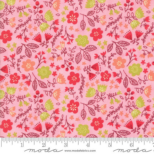 Just Another Walk in the Woods 20524 12 Pink Floral Moda Stacy Iest Hsu