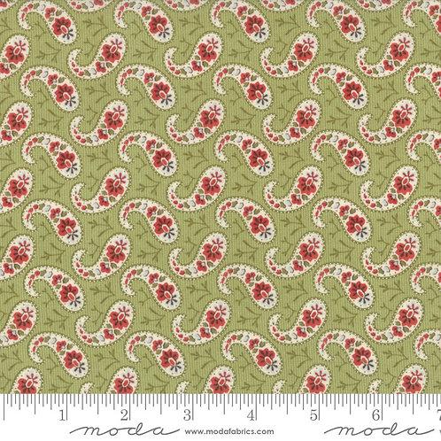 Snowfall 14834 13 Green Red Paisley Moda Minick & Simpson