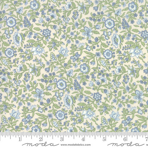 Tres Jolie LAWNS 13876 13LW Blue Pearl Floral FRENCH GENERAL Moda