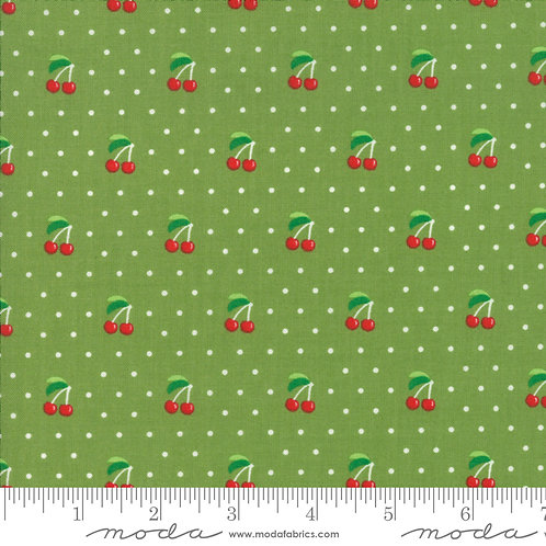 Orchard 24074 15 Green Cherries Moda April Rosenthal