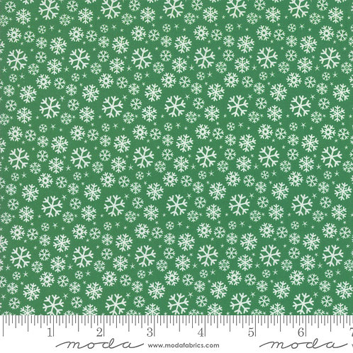 Jolly Season 35345 13 Green Snowflakes Moda Abi Hall