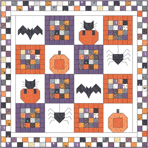 SPOOKY NIGHTS Quilt Kit Moda Ghouls & Goodies