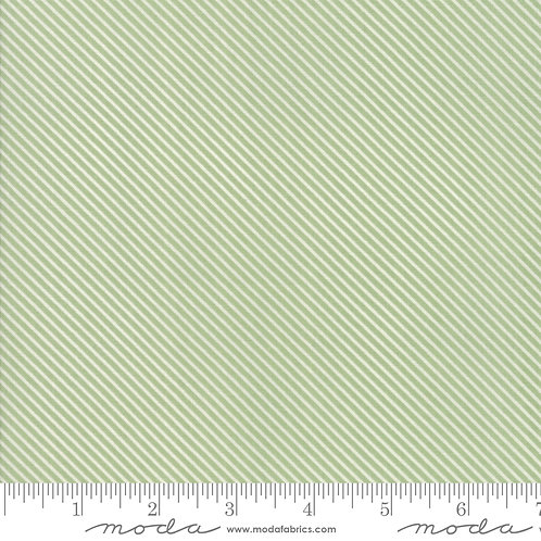 Garden Variety 5075 14 Grass Green Diagonal Stripe Moda Lella Boutique