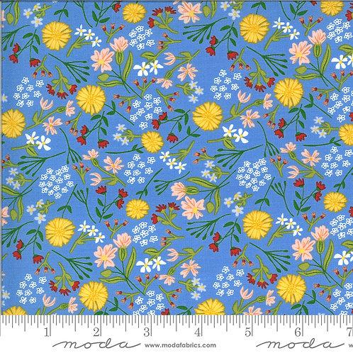 On the Farm 20704 21 Blue Floral Moda Stacy Iest Hsu