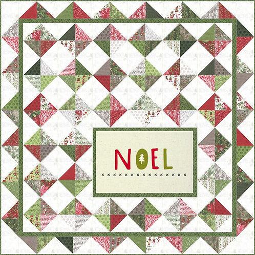 NOEL Quilt KIT Moda Basic Grey Naughty or Nice