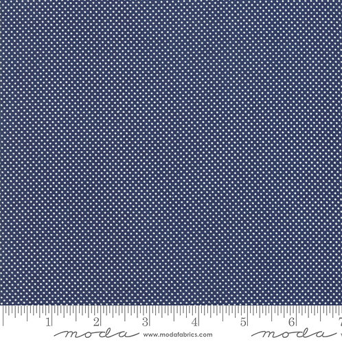 At Home 55205 21 Navy PinDots Moda Bonnie & Camille