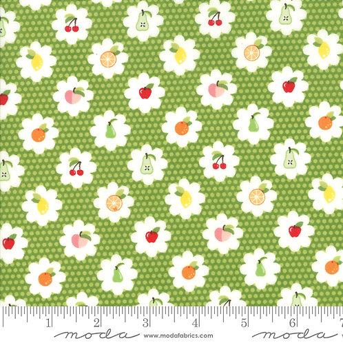 Orchard 24072 13 Green Cherries Moda April Rosenthal