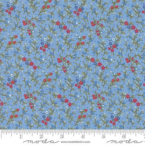 Mackinac Island 14899 14 Blue Red Floral Moda