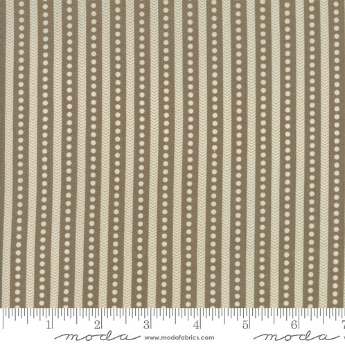 Atelier de France 13807 14 Brown Stripe dots Moda French General