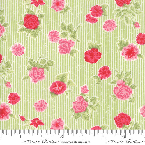 Cottontail Cottage 2920 12 Green Floral Moda Bunny Hill