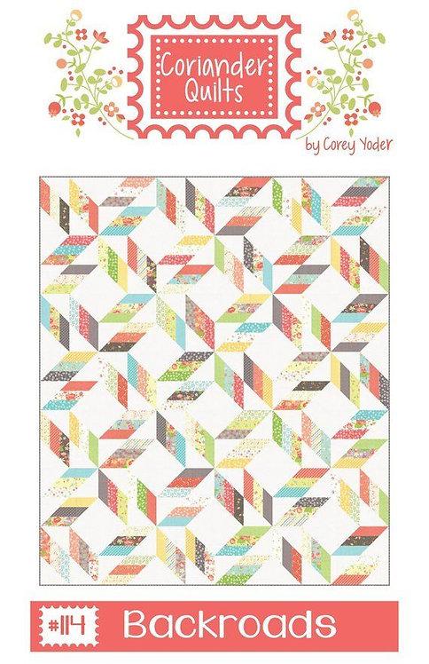Coriander BACKROADS Jelly Roll Pattern