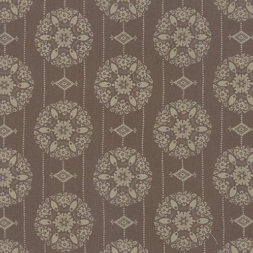Joyeux Noel 13712 15 Brown Snowflakes Moda French General