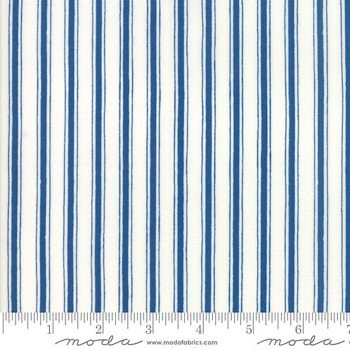 Land That I Love 19888 12 Blue Stripe Moda Deb Strain