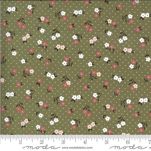 Folktale 5123 15 Olive Green Floral Moda Lella Boutique