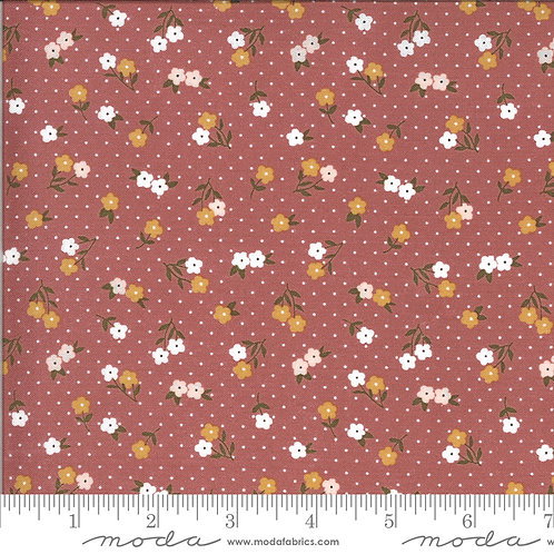 Folktale 5123 13 Dark Pink Floral Moda Lella Boutique