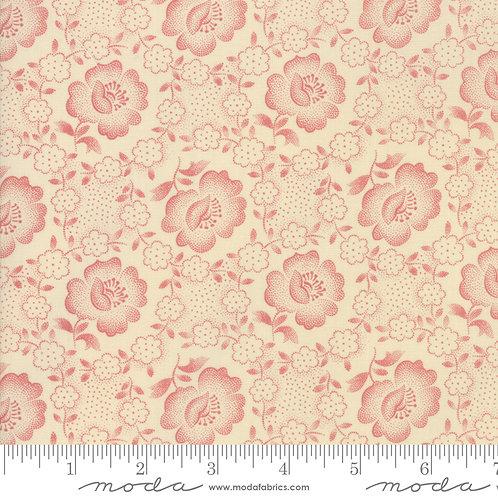 Jo's Shirtings 38040 23 Beige Red Floral Tonal Moda Jo Morton