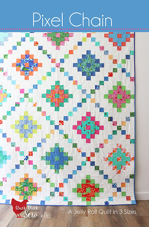 Cluck Cluck Sew PIXEL CHAIN Jelly Roll Pattern