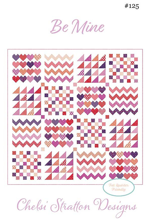 A Quilting Life BE MINE Fat Quarter Pattern