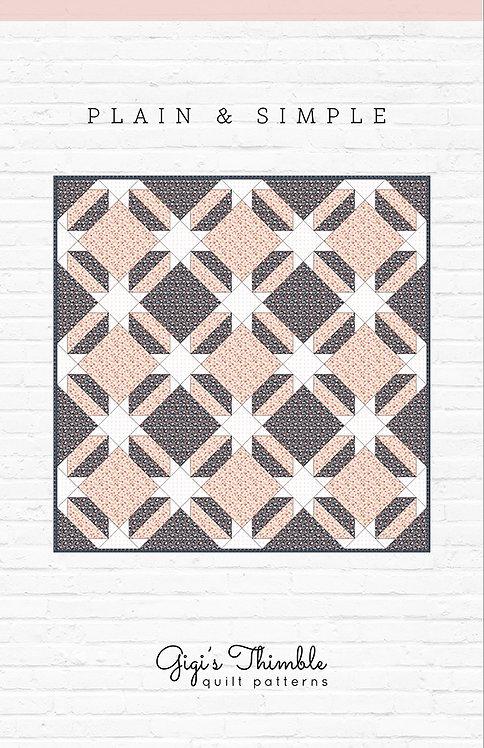 Gigi's Thimble PLAIN & SIMPLE Pattern