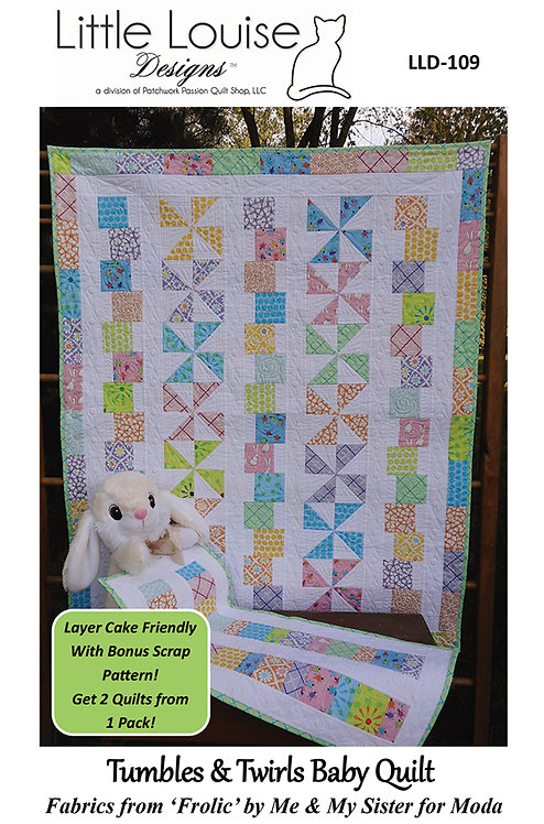 Little Louise Designs TUMBLES & TWIRLS Layer Cake BABY Pattern