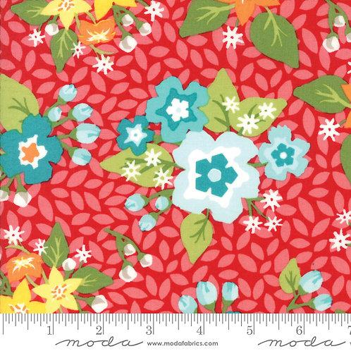 Orchard 24070 12 Red Floral Moda April Rosenthal