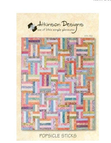 Atkinson Designs POPSICLE STICKS Jelly Roll Pattern