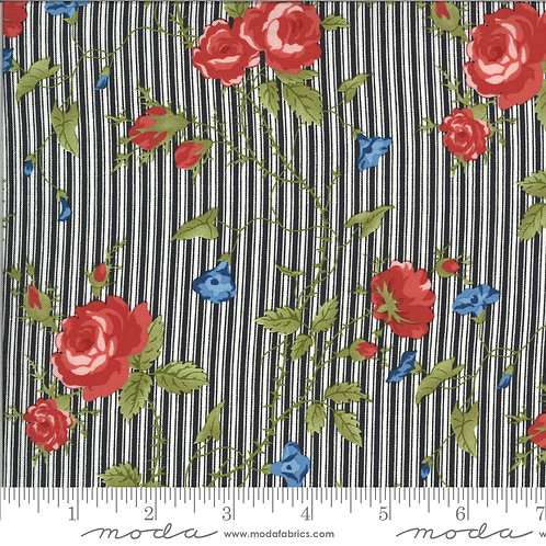 Harbor Springs 14900 18 Black Floral Striped Minick & Simpson