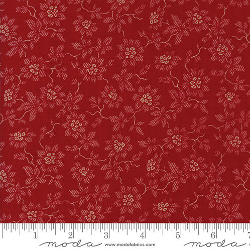 La Vie en Rouge 13826 11 Red Tonal Floral Moda French General