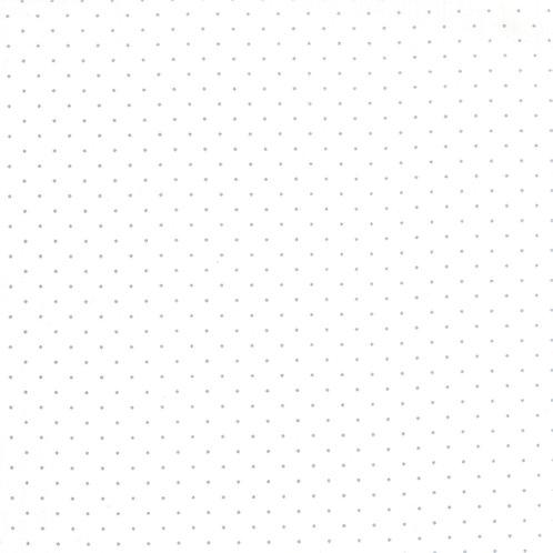 Modern Background Paper 1588 13 White Gray Pindots Moda ZEN CHIC