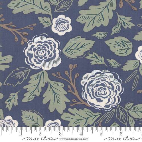 Harvest Road 5100 16 Multi Navy Blue Floral Moda Lella Boutique