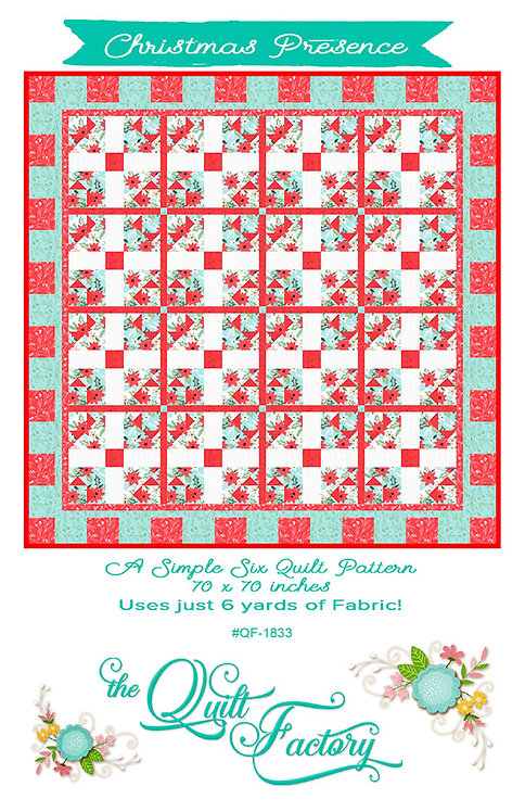 Quilt Factory CHRISTMAS PRESENCE 6 ~ 1 Yard Pattern