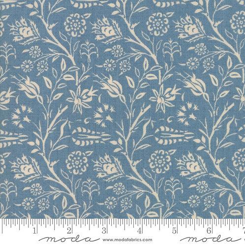 Vive La France 13831 18 Blue Taupe Floral Moda French General