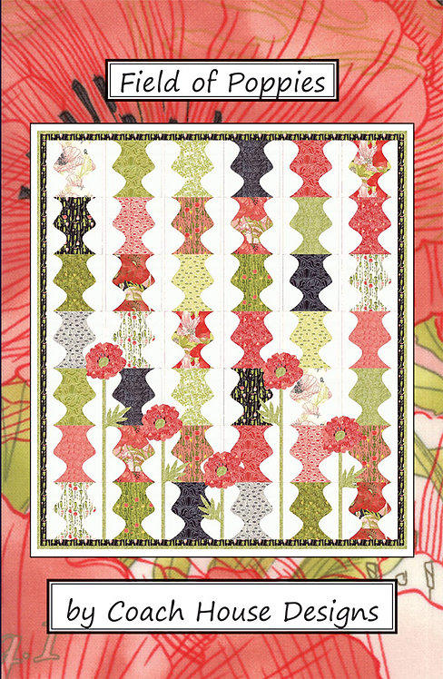 Coach House FIELD OF POPPIES Layer Cake Pattern