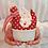 Thumbnail: My Redwork Garden 2951 15 White on Cream Bees BUNNY HILL