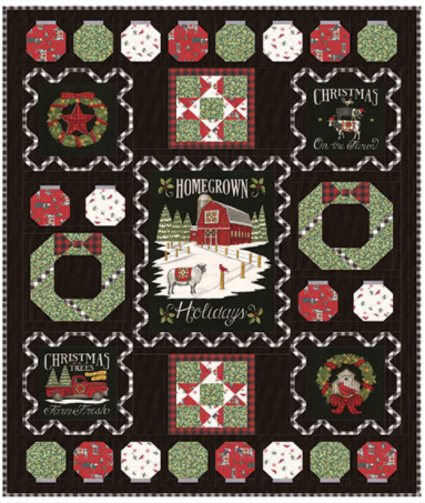 TIME TO DECORATE Homegrown Holidays Moda Deb Strain Quilt Kit