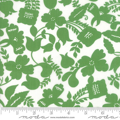 Feed Sacks Red Rover 23310 21 Green Floral Moda Linzee McCray