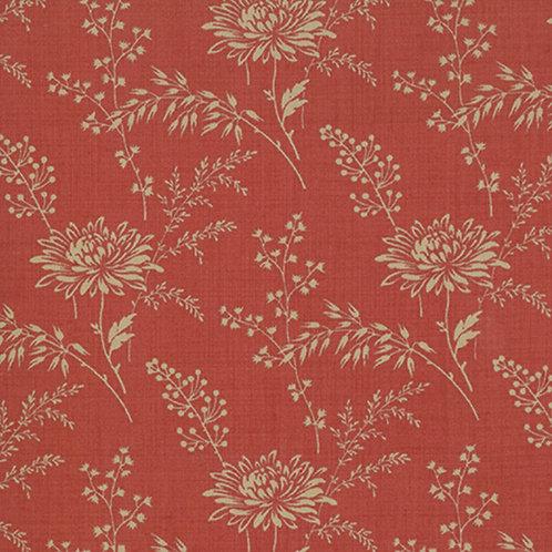 French General Favorites 13527 32 Red Beige Moda Floral