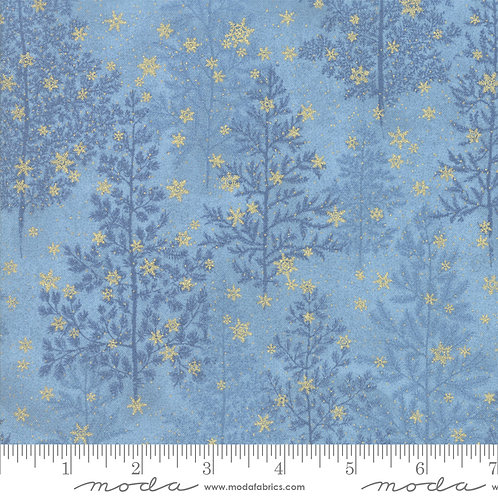 Forest Frost Glitter 33520 15MG Blue Gold Snowflakes