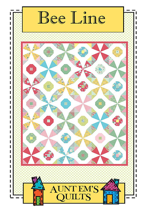 Aunt Em's BEE LINE Fat Quarter Pattern