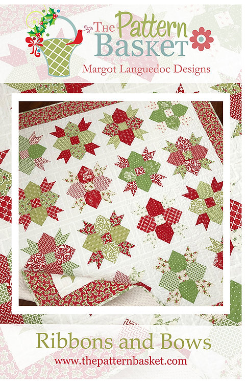Pattern Basket RIBBONS & BOWS Layer Cake Pattern