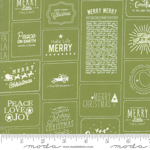 The Christmas Card 5770 22 Green Moda Sweetwater