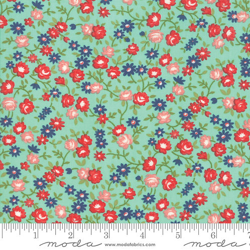 Early Bird 55194 12 Aqua Floral Moda Bonnie & Camille