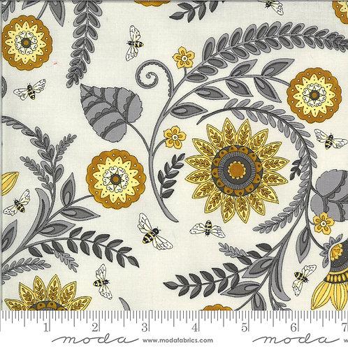 Bee Grateful 19961 13 Gray Floral Moda Deb Strain
