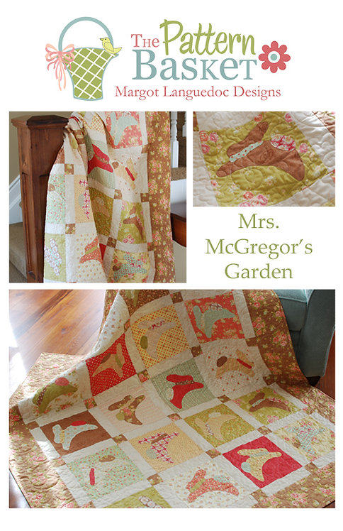 Pattern Basket MRS McGREGOR'S GARDEN Layer Cake Pattern