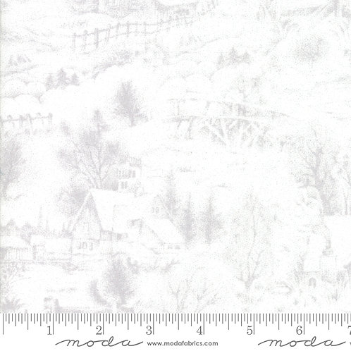 Forest Frost Glitter Favorites 33411 12M White Silver Snow Scene